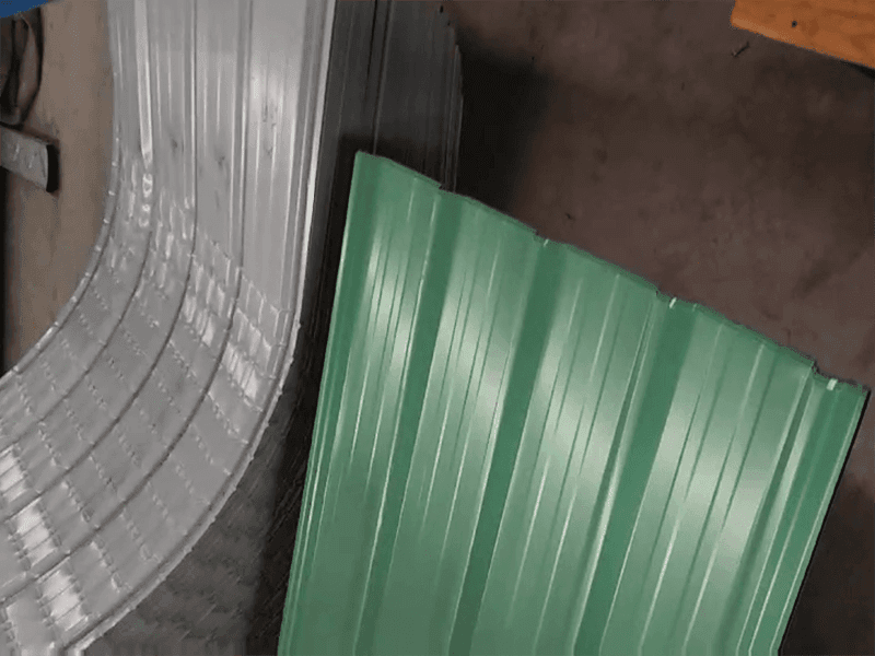Color steel tile production process video