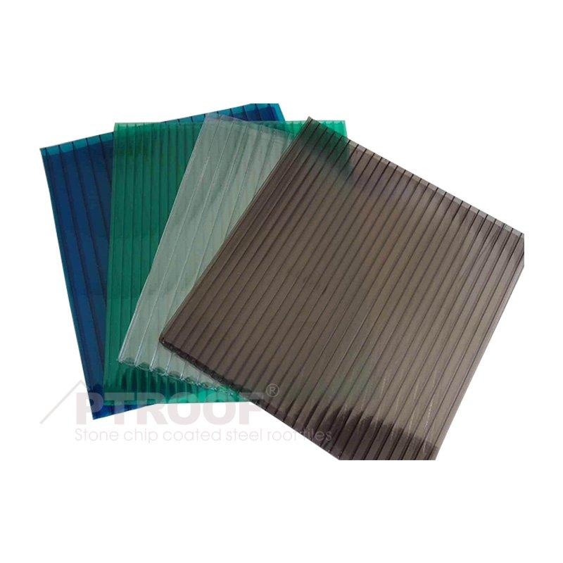 UV Protection Multiwall Hollow Plastic PC Polycarbonate Sheet For One Stop Gardens Greenhouse