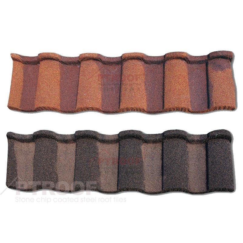 Architectural Roman Color Stone Coated Metal Roof Tile for villa