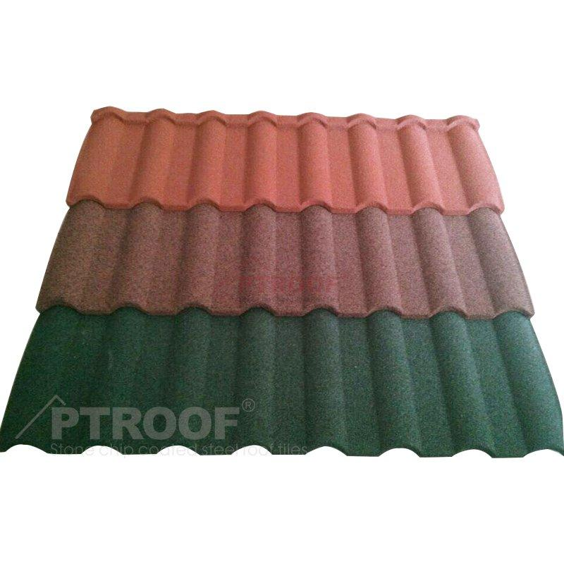 Long-Lasting Steel Roofing Colorful Stone Coated Metal Roofing Tile For Building