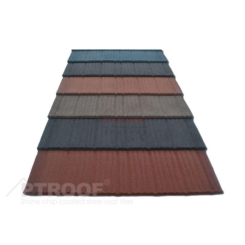 Excellent Durability Shake Stone Coated Metal Roofing Tile