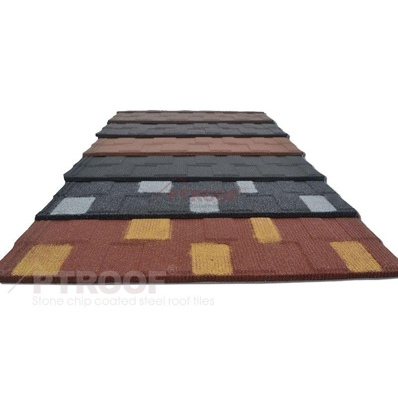 Shingle Color Stone Coated Metal Roofing Tile for Residentia