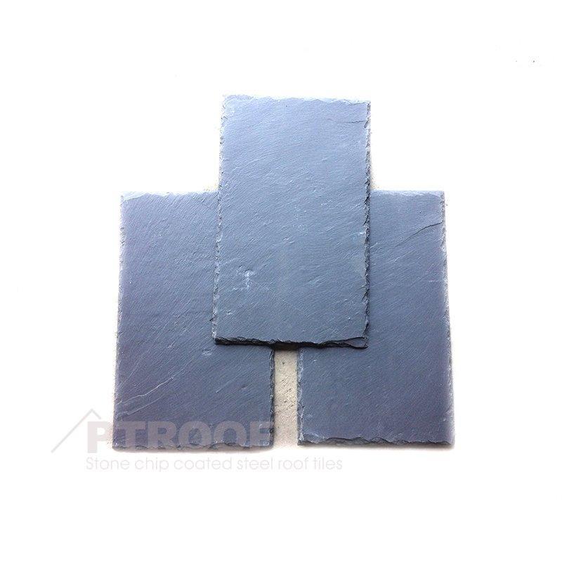 Natural Rectangle Black /Grey Slate Roof Slate Tile for Home Decoration PT-S01