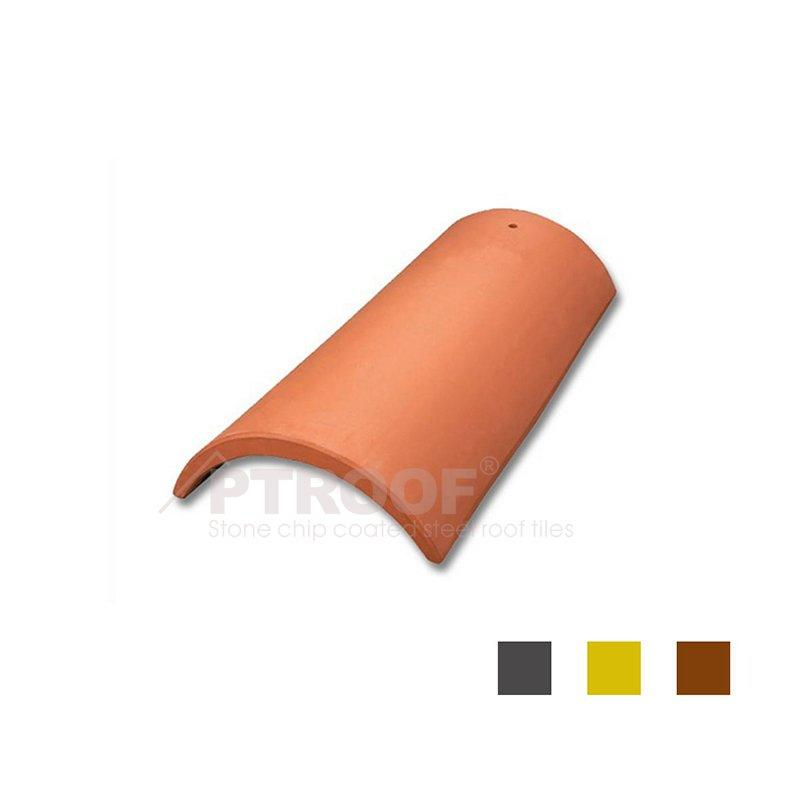 Excellent Fire Resistance Terracotta Half-Round Clay Roof Tile For Temple