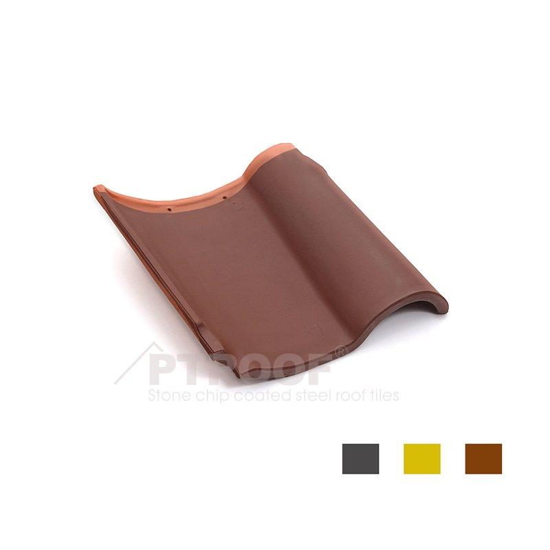 Waterproof & Fireproof Red Spanish Clay Roof Tile For Villa