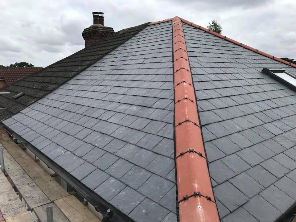 350 Sqm Natural Black Roofing Slate Project Case At New