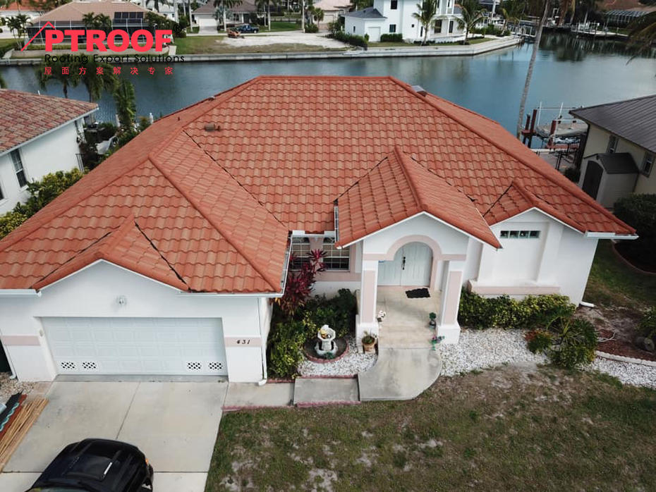 Stone coated chip roof tiles projects in Miami ,Florida